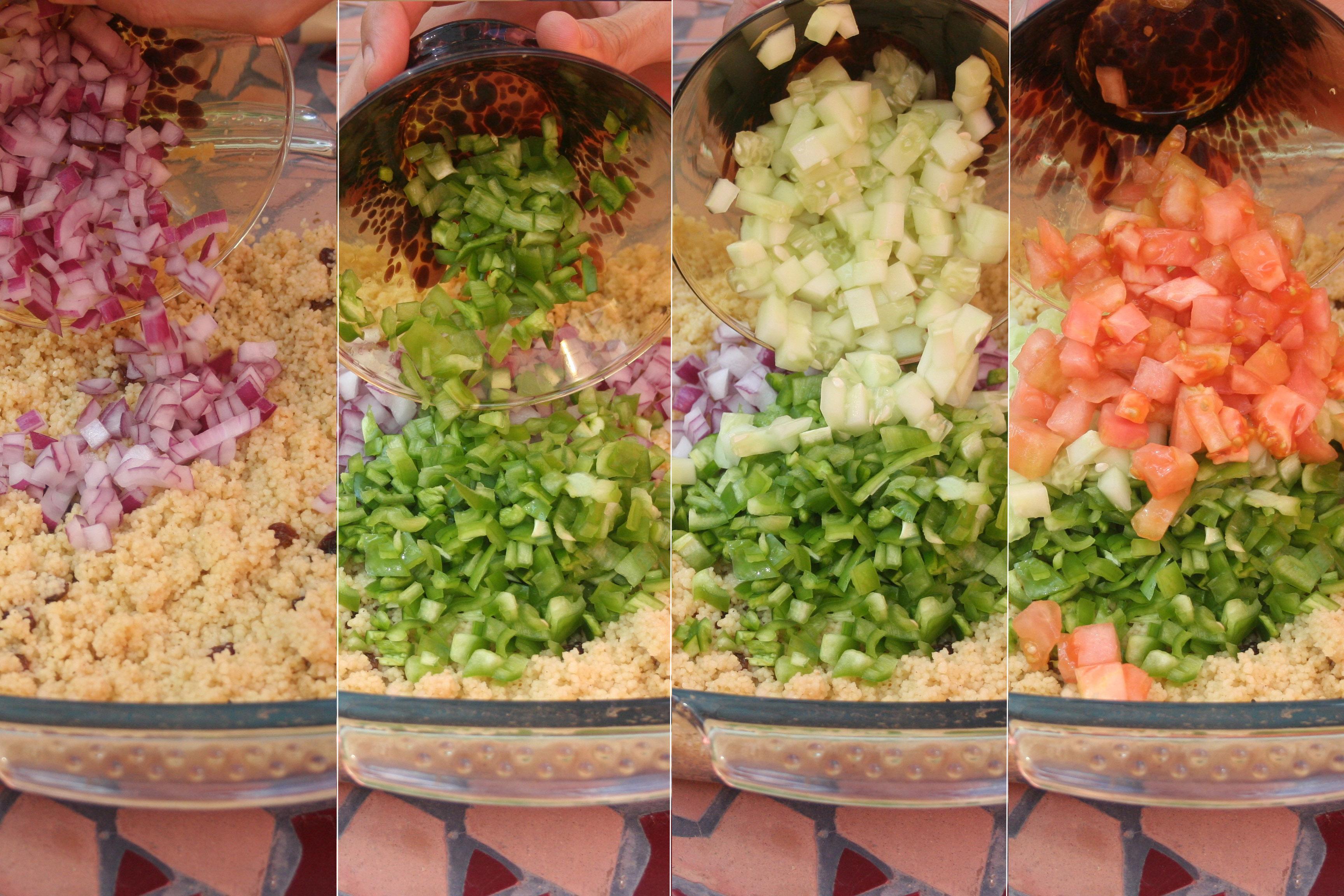 Añade la verdura cortada