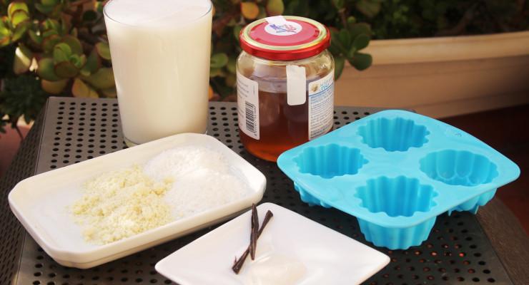 Ingredientes para el flan