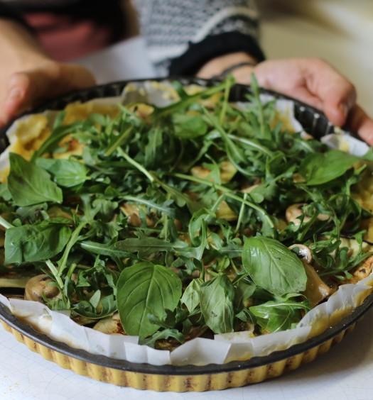 Polenta con verduras