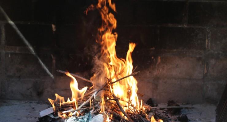 Cuando el fuego se coja