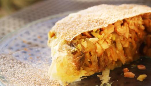 Pastela marroquí vegana. Aroma africano.